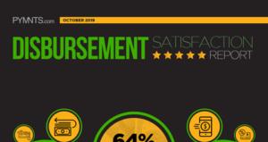 PYMNTS.com Disbursement Satisfaction Index October 2019