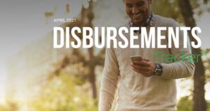 PYMNTS.com Disbursement Tracker April 2021 Cover Image
