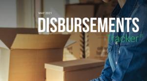 PYMNTS.com Disbursement Tracker May 2021 Cover Image
