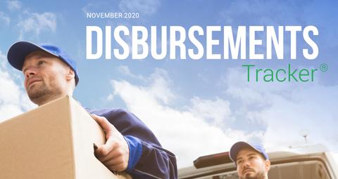 PYMNTS.com Disbursement Tracker November 2020 Cover Image